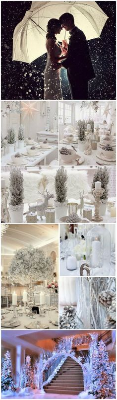 Baby's Breath Flower Themed Winter Wedding Ideas