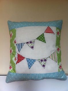 Patchwork Bunting Cushion
