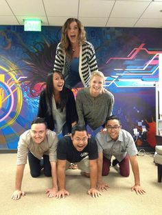 We've got spirit, how 'bout you! June 30 is National #SMDay and Flash Point is pumped. #digitaladvertising #marketing #adagency #socialmedia #officestunts #fun #humanpyramid