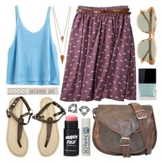 Blueberry by alayaya on Polyvore featuring polyvore fashion style Myia Bonner Jules Smith J.Crew Topshop Crabtree & Evelyn Butter London clothing