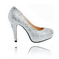 Lemonade Couture Crystal Sparkle Shoes Silver