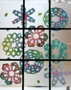 Rainbow Snowflake Window Art