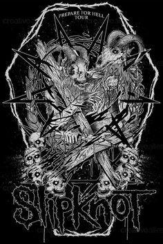 Slipknot Merchandise Graphic by carlossarabia on CreativeAllies.com
