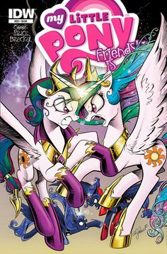 """Laste Ned eller Lese På Net My Little Pony: Friendship is Magic Bok Gratis PDF/ePub - Katie Cook, Andy Price & Chad Thomas, The climactic conclusion to """"Reflections"""" is here! The fate of two Equestrias hangs in the balance as our ponies. My Little Pony Books, My Little Pony Comic, Princess Celestia, Princess Luna, Scooby Doo Mystery Incorporated, Fanart, Mlp Comics, Little Poney, My Little Pony Friendship"""