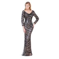 Terani Couture Sequined Prom Formal Dress