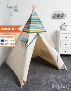 teepee tent, indian teepee kids play tent, children teepee tent, teepee for boy, INDIAN Childrens Teepee, Kids Teepee Tent, Teepees, Indian Teepee, Play Houses, Kids Playing, Kids Bedroom, Kids Rugs, Perfect Place