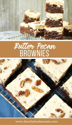 Two favorite desserts in one! Butter Pecan Brownies Two favorite desserts in one! Cookie Dough Cake, Chocolate Chip Cookie Dough, Chocolate Brownies, Chocolate Desserts, Cake Cookies, Brownie Recipes, Cookie Recipes, Dessert Recipes, Brownie Desserts