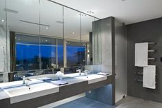 Large mirrors to help give the illusion of a larger space