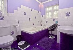 Purple Bathroom Purple Home, What's My Favorite Color, Normal House, Purple Bathrooms, Purple Interior, All Things Purple, Purple Stuff, Purple Reign, Decoration Home