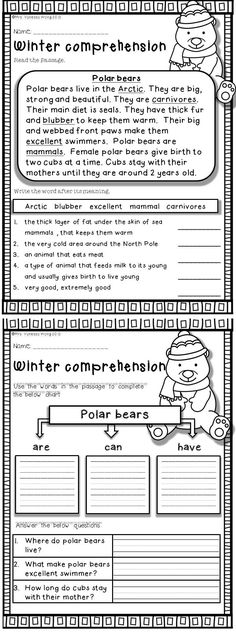 Download free printables at preview. Winter Math and Literacy No Prep Printables - First grade. An excellent pack with a lot of sight word, vowels, blends, digraphs, vocabulary, word work, grammar, reading & comprehesnion, writing, fluency and other literacy activities and practice