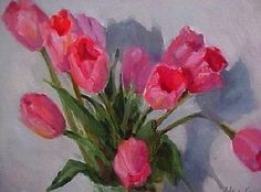 So pretty Patricia kness Oil Paintings, Blossoms, Flower Art, Florals, Sketch, Printable, Watercolor, Pretty, Pink