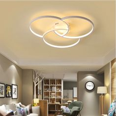 These modern ceiling lights are something totally different and will add modern character to any living room or bedroom. Unique Design LED Technology, energy saving Average lifespan LED bulbs 50,000 hours LED Bulbs included 3 Year warranty Body material: Aluminum Voltage: 110V - 265V Available sizes: Diameter 22.8 Inch
