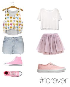 """go to party"" by proste-jaa on Polyvore featuring Topshop, Converse, Olympia Le-Tan, MANGO and Vans"