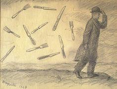 René Magritte - The Storm, 1927