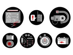 Some icons we recently created to accompany an editorial piece about Formula E racing for WIRED Italia.