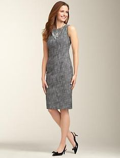Talbots - Carnegie Tweed Bateau-Neck Sheath | Dresses | Apparel