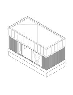 Drawing for a garden office by VDP-Plus