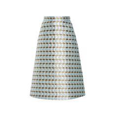Alena Akhmadullina Jacquard A-Line Skirt (13 935 UAH) via Polyvore featuring skirts, a line skirt, alberta ferretti skirts, jacquard skirt, knee length skirts и alberta ferretti