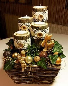 Christmas Advent Wreath, Xmas Wreaths, Handmade Christmas Decorations, Christmas Candles, Christmas Centerpieces, Rustic Christmas, Xmas Decorations, Winter Christmas, Christmas Time