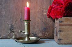 Portacandele in ottone vintage, candeliere in metallo titolare, Candeliere, candela titolare centrotavola, Decorazioni matrimonio, centrotavola, Shabby chic