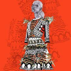 Temperely London Pre-Fall 2O15 Fashion Illustration by Alexandra Clarke