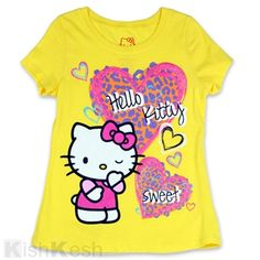 Great tee shirt with glitter print for girls by Hello Kitty $10.95 http://www.kishkesh.com