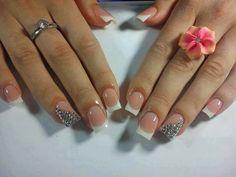 Elegant Short Nail Designs 2014 by lupita m Fabulous Nails, Gorgeous Nails, Love Nails, Pretty Nails, My Nails, Vegas Nails, Nail Art 2014, Nails 2014, Nail Designs 2014