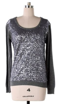Gray sparkly sweater by AdisynKlaire on Etsy, $26.99