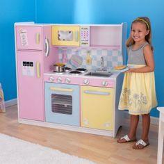 Geräumige KidKraft Kinder-Spielküche in traumhaften Pastellfarben