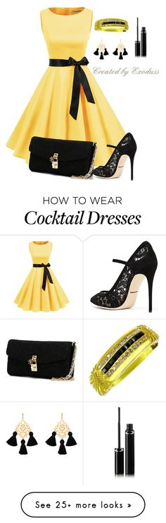 """Yellow"" by exoduss on Polyvore featuring Dolce&Gabbana, Marte Frisnes, Sisley, contestentry, PopsOfYellow and NYFWYellow"