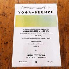Yoga and Brunch March 11 @santoshapalma Brunch Menu, March, Restaurant, Yoga, Majorca, Brunch, Diner Restaurant, Restaurants, Mac