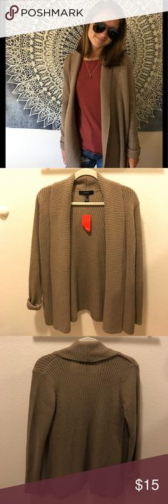 Cute light brown cardigan Great for the winter. It matches with almost everything and it completes an outfit. Never worn! Forever 21 Jackets & Coats