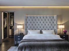 Luxury bedroom, Private Villa - Designed by Norwegian Interior Architect firm Metropolis arkitektur & design - www. Villa Design, Luxurious Bedrooms, Luxury, Interior, Furniture, Projects, Home Decor, Luxury Bedrooms, Log Projects