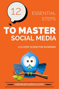 Essential Steps to Take Today to Master Social Media Tomorrow Top Social Media, Social Media Pages, Social Media Marketing, Marketing Strategies, Business Marketing, Online Marketing, Digital Marketing, Business Tips, Twitter For Business