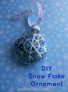 DIY Snowflake Ornament