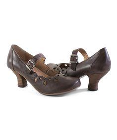Brown Chels Leather Pump by Crowne Comforteur