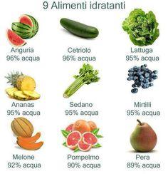 #Alimenti idratanti per il tuo benessere e la tua bellezza