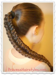 Fishtail braid with twisted edge tutorial