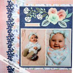 Read all of the posts by Karyn McDermaid-Rolfe on Karyn Crops Baby Girl Scrapbook, Baby Scrapbook Pages, Birthday Scrapbook, Scrapbook Sketches, Scrapbook Page Layouts, Scrapbook Cards, Scrapbooking Ideas, Digital Scrapbooking, Recipe Scrapbook