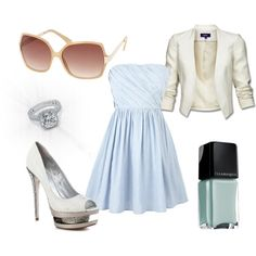 Powder Blue and White