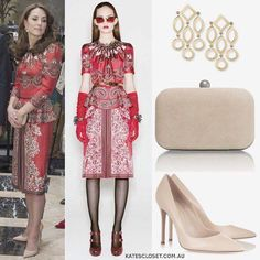 The Duke and Duchess of Cambridge had touched down to Mumbai India this morning to start their 7 days to India and Bhutan. Outfit no.1 Kate debuted a New look to India with a piece from Alexander McQueen the paisley dress. As for the jewellery Kate opted for her Cassandra Goad 1365 Temple of Heaven earrings and carried a new Russell & Bromley 'Curvey' clutch which retails for 165. To finish up her look the Duchess wore the Gianvito Rossi 105 leather pumps for 474. What do you think of the…