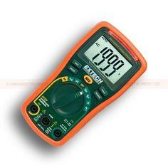 http://termometer.dk/multimeter-r13262/digitale-multimetre-r13263/multimeter-med-spanding-detektor-53-EX320-r13272  Multimeter med spænding detektor  Autoranging DMM med 8 funktioner og 0,5% grundlæggende nøjagtighed  AC / DC spænding og strøm, modstand, diode / kontinuitet  Indbygget berøringsfri AC spændingsdetektor (NCV) med rød LED-indikator og akustisk buzzer  Large-cifret 2000 trins LCD display  10A max strøm  Max Hold, Data Hold, relativ og Auto shutdown...