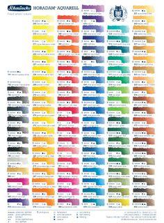 Schmincke Horadam Watercolour : Printed Colour Chart - Schmincke - Discount Art Materials from Jackson's Art Supplies