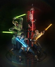 Ok, so those colors go with their outfits and their nation colors but their personality is almost directly the opposite of what those colors mean in lightsaber.