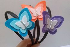 Butterfly headband blue peach or lilac felt by DusiCrafts on Etsy Butterfly headband blue peach or lilac felt by DusiCrafts on Etsy Felt Hair Accessories, Girls Accessories, Felt Headband, Headbands, Felt Flowers, Fabric Flowers, Felt Crafts, Diy And Crafts, Do It Yourself Inspiration