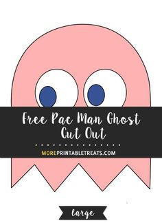 Free Pink Pac Man Ghost Cut Out – Large - Halloween Suggestions Retro Videos, Retro Video Games, Retro Games, Pac Man Party, Game Party, Festa Do Pac Man, Ghost Template, Manly Party Decorations, 80s Theme