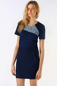 Maje Dresses - Stylish Womens Clothing Summer 2013 great patter and use of color--wonder if it would look good longer?