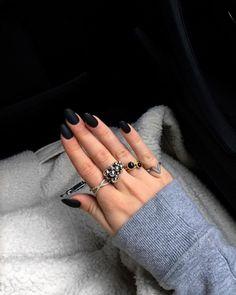 BLACK  | hvisk Jewellery #black #hvisk #jewellery #hand #rings #inspiration #nails #matte #color #cool