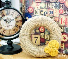 Dollar Store Jute Wreath :: #blitsy #blitsycrafts