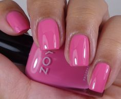 Zoya: ♥ Rooney ♥  from the Tickled Collection Summer 2014.  BRIGHT   PINK Creme nail polish.